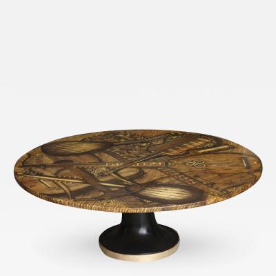Piero Fornasetti Cocktail Table Piero Fornasetti c 1950