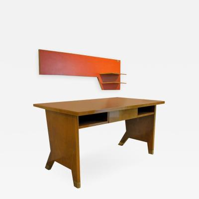 Gio Ponti Rare Desk and Wall Shelf Italian Modern Gio Ponte c 1950