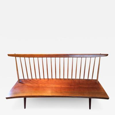 George Nakashima Free Edge Walnut Bench by American Woodworker George Nakashima