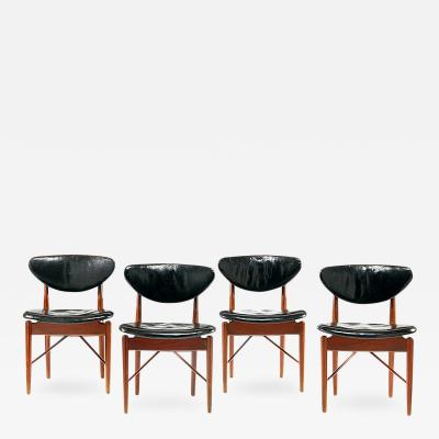Niels Vodder A Set of Four Early Teak and Chairs Finn Juhl made by Niels Vodder