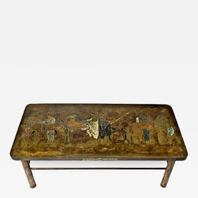 Philip Kelvin LaVerne Philip Kelvin Laverne Patinated Bronze Coffee Table Romanesque