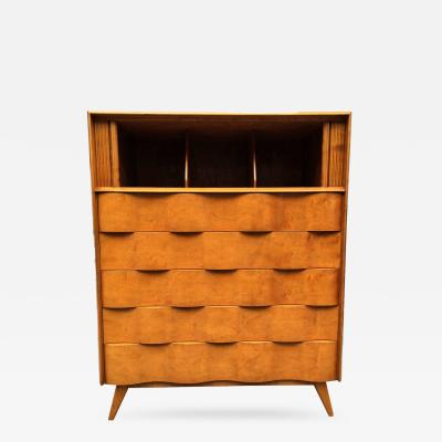 Edmond Spence Wavy Front Tall Dresser by Edmond J Spence