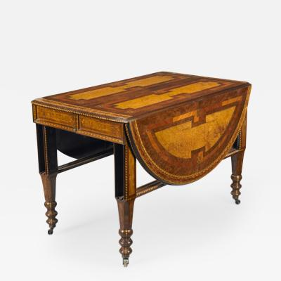 George Ahrens Aesthetic Movement extension table with elaborate inlay
