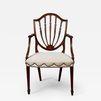 Hepplewhite Shield Back Mahogany Armchair ca 1790 1795