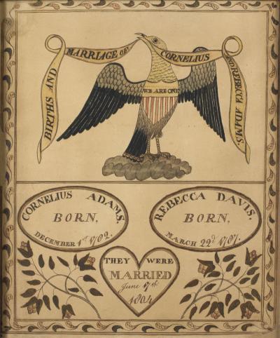 Adams Family Record Probably Massachusetts ca 1804