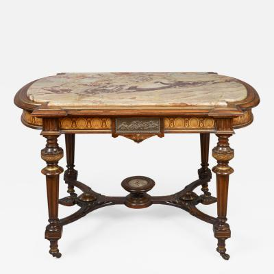 Center Table with Marble Top Attributed to Pottier and Stymus New York