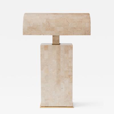 Karl Springer Coral Veneered Sculpture Desk Lamp Karl Springer USA c 1980 s
