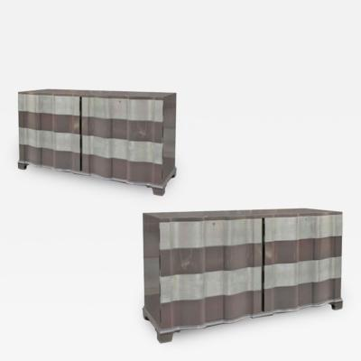Samuel A Marx Pair of Serpentine Front Dressers USA c 1950 s