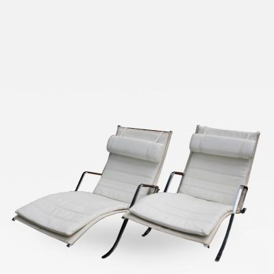 Preben Fabricius Pair of Grasshopper Lounge Chairs Preben Fabricius and Jorgen Kastholm