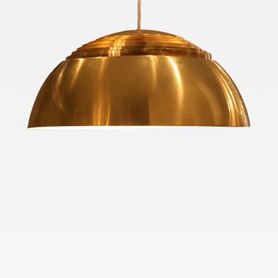 Arne Jacobsen Large AJ Brass Pendant Denmark 1960