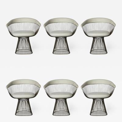 Warren Platner Set of 6 Bronze Dining Chairs USA 1960 s