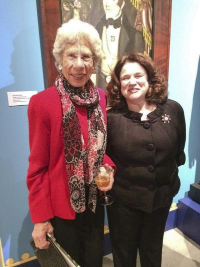Lucy Danziger (collector) and Mary Mills (glass curator)