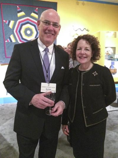 Ron Hurst (Chief Curator, Williamsburg) and Susan Stein (Senior Curator, Monticello)