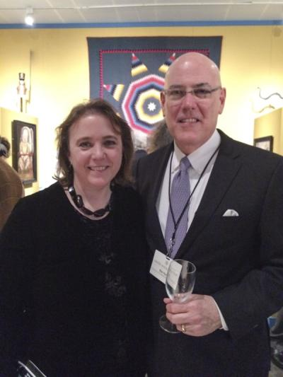 Johanna McBrien (Editor, Antiques & Fine Art/Incollect.com) and Ron Hurst (Chief Curator, Colonial Williamsburg)