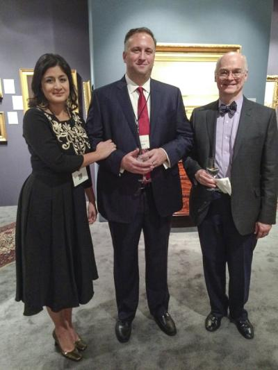Deepali and Robert Schwarz (Schwarz  Gallery) with David Barquist (curator, Philadelphia Museum of Art)