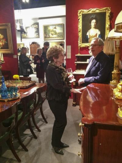 Wendy Cooper (Winterthur, curator emeritus) and Stuart Feld (Hirschl & Adler) in Stuart