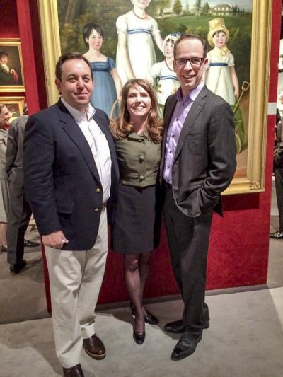Mark Brock (Brock & Co.), Brandy Culp (curator, Wadsworth Atheneum), and John Smiroldo (founder of Incollect & Antiques & Fine Art Magazine).