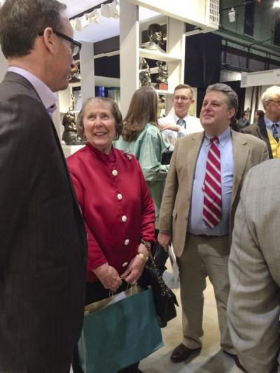 John Smiroldo (Incollect.com/Antiques & Fine Art Magazine), Marjorie McGraw (collector), and Erik Gronning (Sotheby