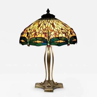 Tiffany Studios Drophead Dragonfly Table Lamp