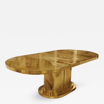 Armand Jonckers Signed Armand Jonckers Etched Bronze Dining Table 1970s
