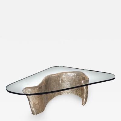 Craig Van Den Brulle Bronze Glass Coffee Table designed by Craig Van Den Brulle