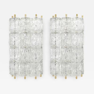 Venini Pair of Glass Sconces Venini Italy 1960s
