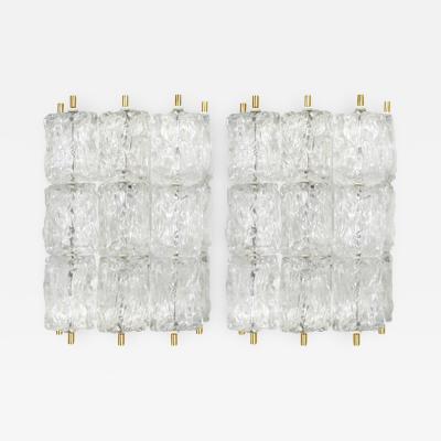 Venini Pair of Glass Sconces Venini Italy c 1960s