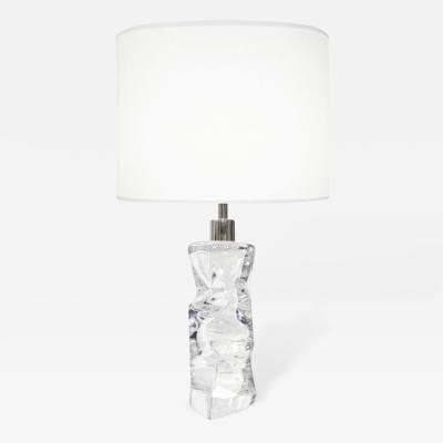 Orrefors Abstract Crystal Lamp Orrefors Sweden c 1960s