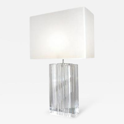 Craig Van Den Brulle Vertigo Lamp in Lucite