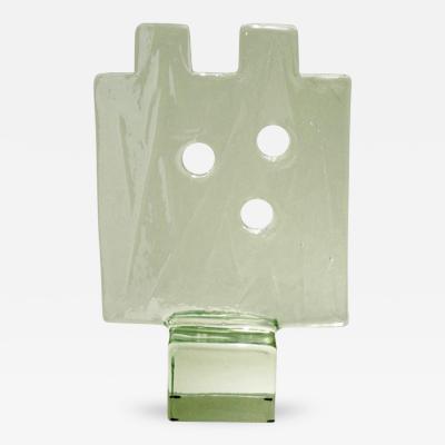 Alfredo Barbini Block Glass Sculpture by ALFREDO BARBINI