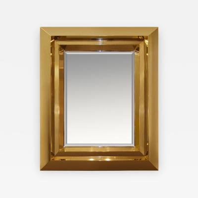 Craig Van Den Brulle Custom Brass Beveled Mirror