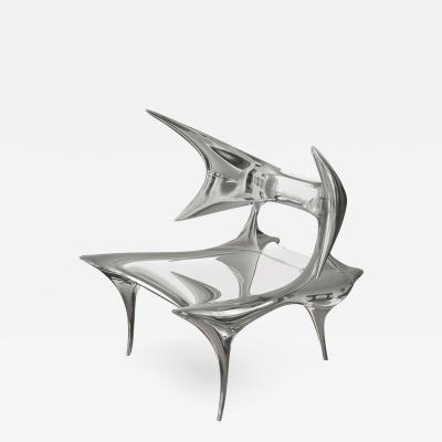 Craig Van Den Brulle Darboux Chair in Mirror Polished Cast Stainless Steel