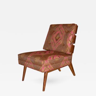T H Robsjohn Gibbings Rare Walnut Slat Back Chair T H Robsjohn Gibbings USA 1950s