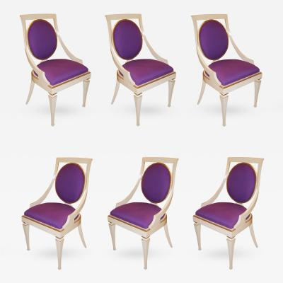 John Widdicomb Co Set of 6 Dining Chairs John Widdicomb USA 1960s