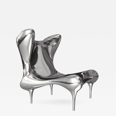 Craig Van Den Brulle Riemann Chair in Mirror Polished Stainless Steel