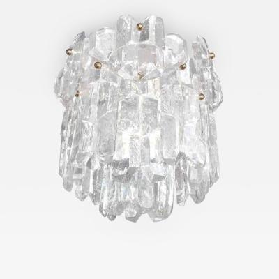 J T Kalmar Textured Glass Chandelier