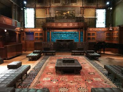 Veterans Room at the Park Avenue Armory. Completed in 1881 by Louis Comfort Tiffany, Stanford White, Candace Wheeler & Samuel Colman.