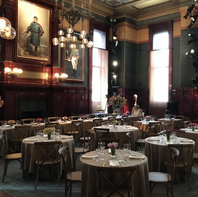 Board of Officers room set up for lunch at the Park Avenue Armory