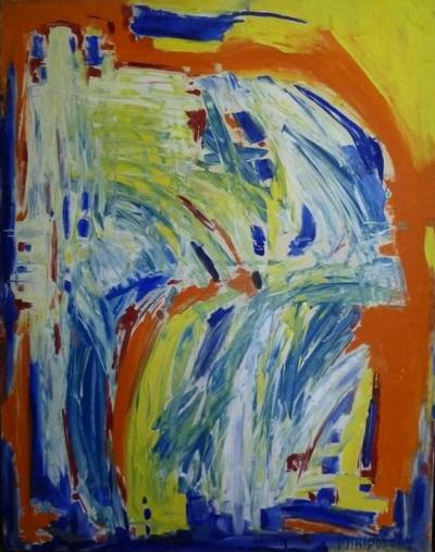 Bert Miripolsky In Motion Colorful Abstract Painting by Bert Miripolsky