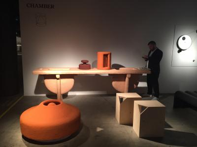 Carl Emil Jacobson Powder table and Red Powder Variation, presented by Chamber Gallery