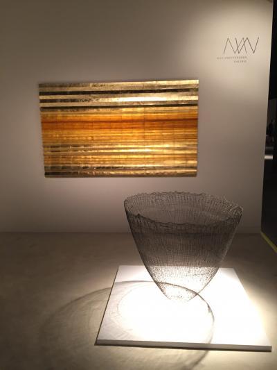 Astrid Krogh wall art and Gjertrud Hals sculpture, presented by Maria Wettergren