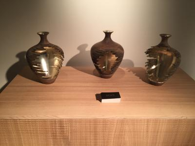 Erosion Vessels: Set of Three by Marc Fisher, presented by Todd Merrill