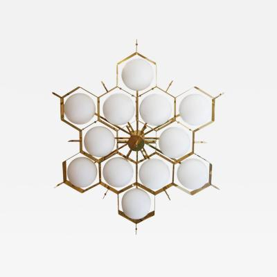 Fedele Papagni Limited Edition Flush Mount Chandelier by Fedele Papagni for Gaspare Asaro