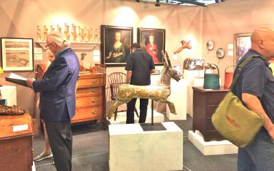 James Kilvington Antiques, Booth 23. Jim is in the left foreground.