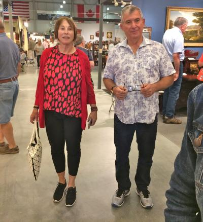 Collectors Bobbie and Bob Falk regularly attend the New Hampshire shows.