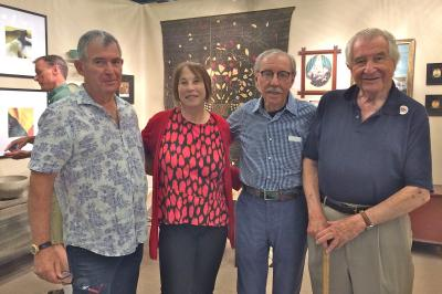 Collectors Bob and Bobbie Falk, Sam McCullough, and Pepi Jelinek. At Joan Brownstein