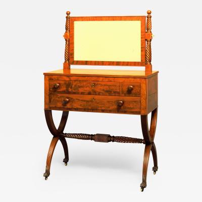 Extremely Fine Rare Curule Base Mahogany Dressing Bureau c 1810 1815