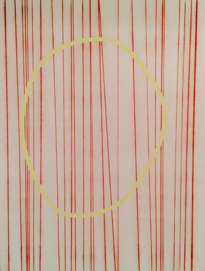 Neal Perbix Untitled 4 Red with Yellow 2015