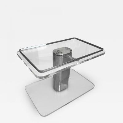 Lucite and Steel Coffee Table