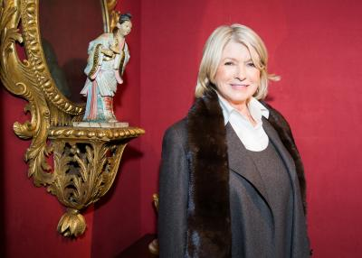 Martha Stewart. Photo: Carl Timpone. Courtesy Sharp Communications and the Winter Antiques Show.